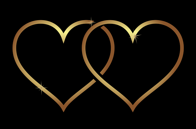 Heart, Hearts, Love, Wedding, Gold, Gradient, Plus