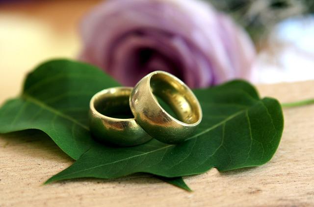 Wedding Rings, Rings, Wedding, Love, Romance, Gold