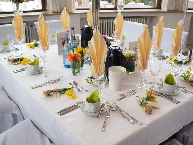 Wedding Table, Ballroom, Hall, Wedding Decoration