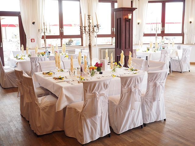 Wedding Table, Ballroom, Hall, Wedding Decoration