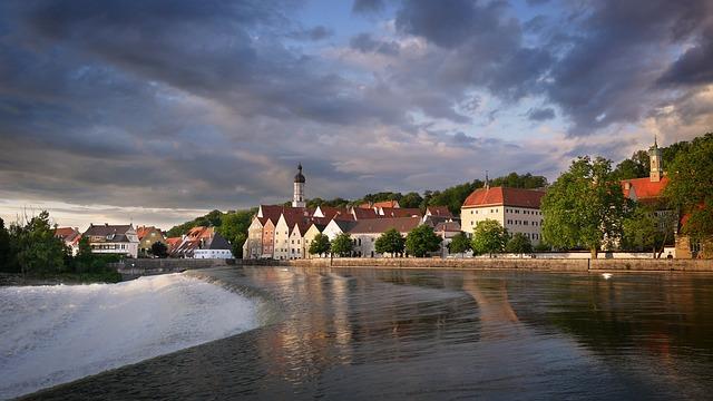 Landsberg, Lech, River, Bavaria, Weir, Water