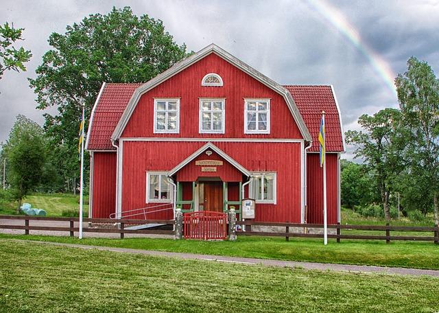Suntak, Sweden, Landscape, Building, Welcome Center