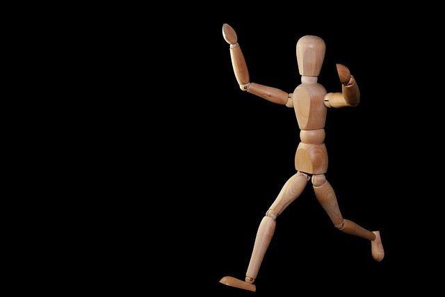 Figure, Man, Run, Joy, Welcome, Arrive, Doll, Holzfigur