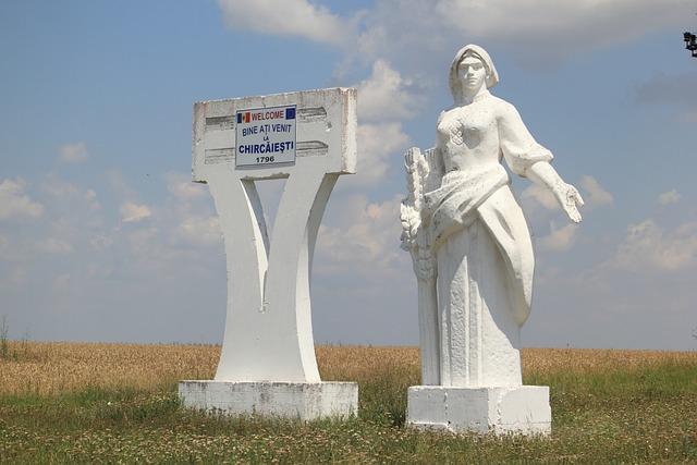 Moldova, Roadside, Statue, Religious, Welcome, Sign