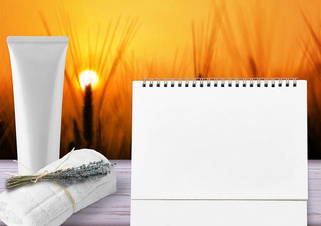 Wellness, Cosmetics, Calendar, Towel, Cream, Tube