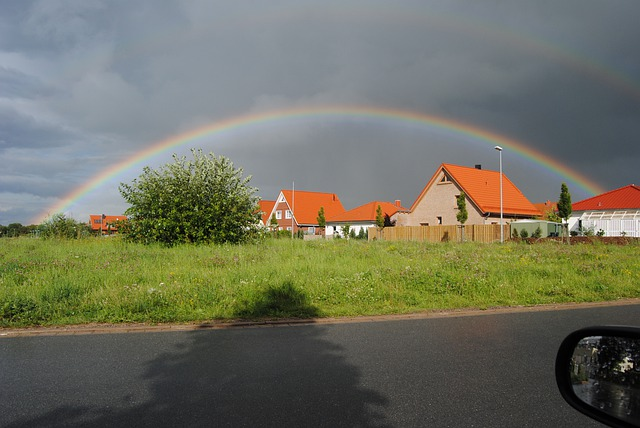 Wennigsen, Rainbow, Sun, Clouds