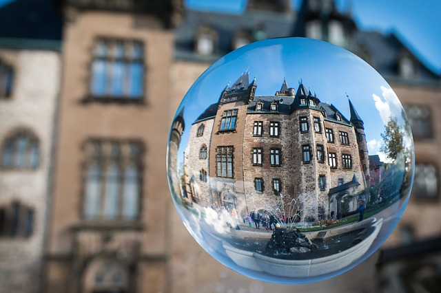 Glass Ball, Castle, Wernigerode, Resin, Globe Image