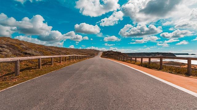 Road, Portugal, West Coast, Landscape, Scenic