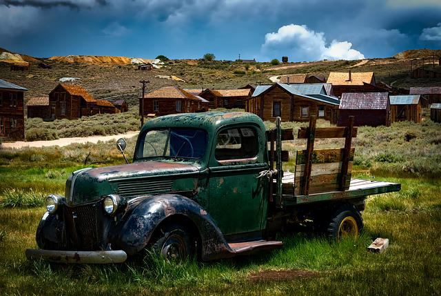 Bodie Ghost Town, California, Landscape, Historic, West