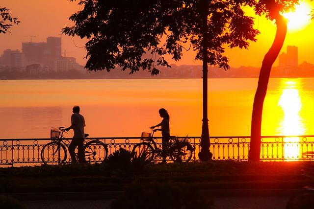 Sunset, West Lake, Hanoi, Vietnam