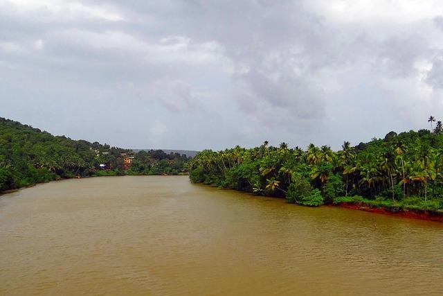 Terekhol River, Teracol, Tidal, Western Ghats, Hills