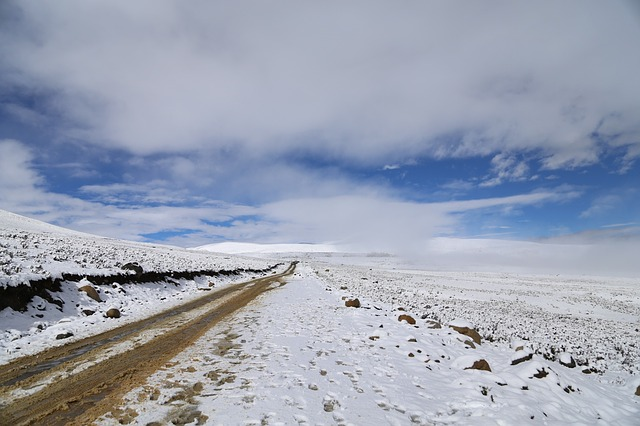 Landscape, Snow, Winter, Road, Nie, Western Sichuan