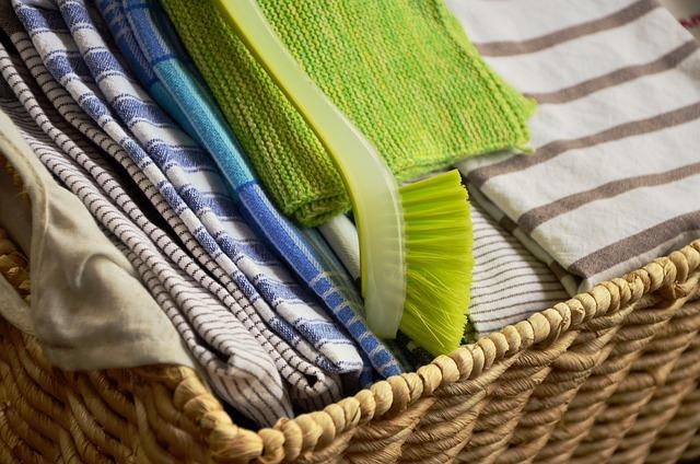 Tea Towels, Rinse, Mop, Dry, Cloth, Fabric, Wet