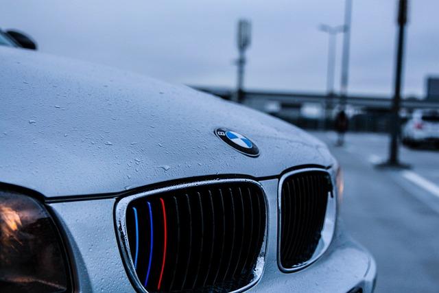 Bmw, Car, Vehicle, Wet, Water, Raindrops, Raining