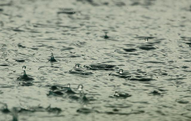 Water, Raindrops, Raining, Wet, Liquid, Splashing