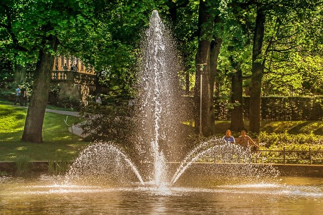 Fountain, Nature, Water, Water Feature, Wet, Waters