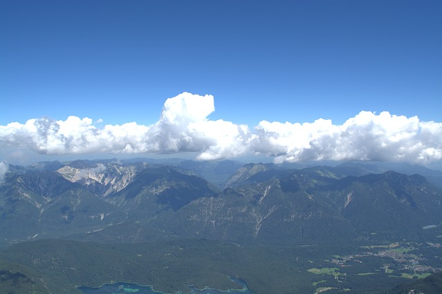 Zugspitze, Wetterstein Mountains, Far Right