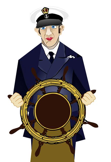 Captain, Wheel, Steering, Sailor, Nautical, Ship