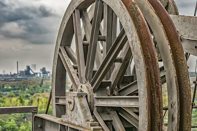 Wheel, Turn, Carry, Metal, Steel Mill, Duisburg