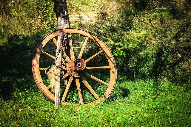 Wagon Wheel, Wheel, Wooden Wheel, Spokes, Farm, Old