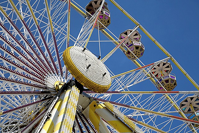 Wheel, Manége, Ferris Wheel, Attraction, City