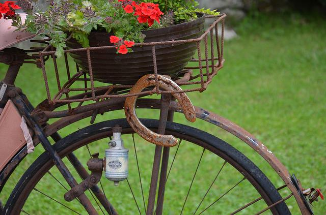 Horseshoe, Old Bicycle, Stainless, Old, Rusty, Wheel