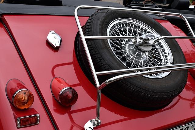 Car, Wheel, Red