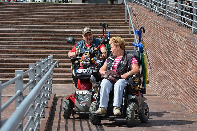 Hamburg, St Pauli, Wheelchair Users, Disability