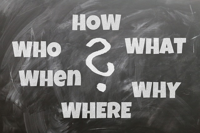 Board, Questions, Who, What, How, Why, Where