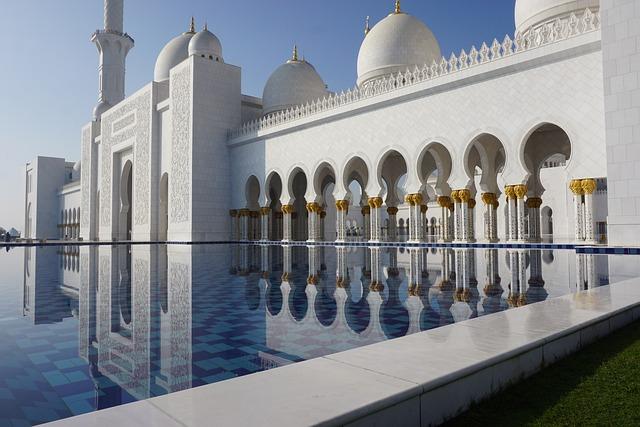 Mosque, Arabian, White, Marble, Abu Dhabi