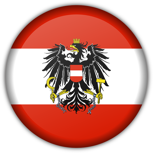 Flag, Austria, Red, White, National, Eagle