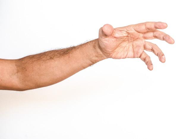 White Background, Hand, White, Man, Arm, Grab