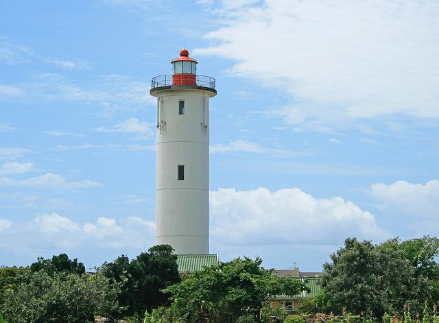 Lighthouse, White, Tall, Tower, Beacon, Landmark
