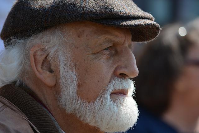 Man, Old, White Beard, Face, Portrait, Road, Hamburg