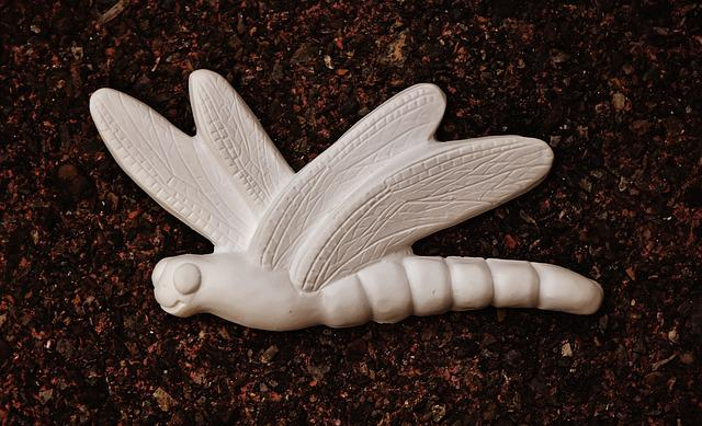 Dragonfly, Gypsum, Blank, Unpainted, White