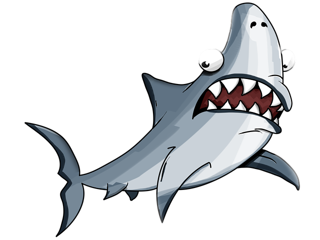 Shark, White, Cartoon, Jaw, Katran, Elasmobranch