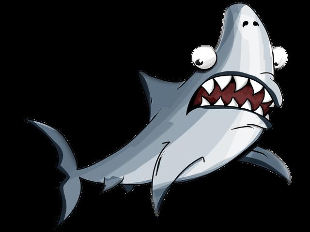 Shark, White, Cartoon, Jaw, Katran, Elasmobranch