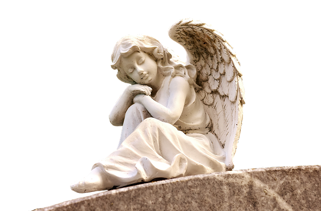 Angel, Sculpture, White, Figure, Cemetery, Faith, Hope