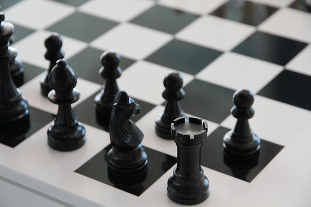 Chess, Chess Board, Black, Play, White, Tower