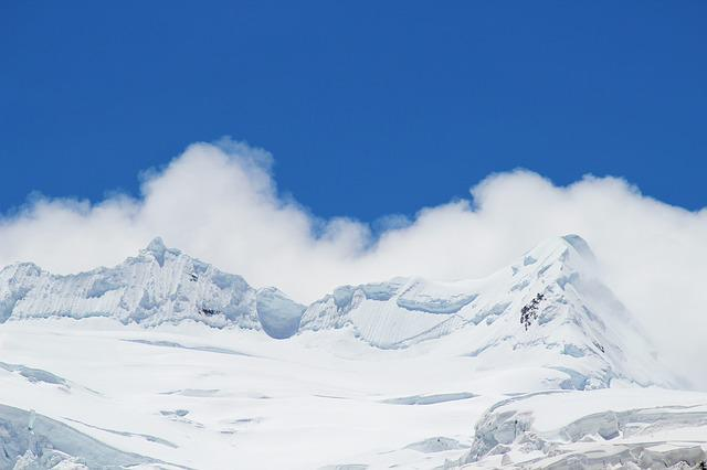 Blue Sky, White Cloud, Snow Mountain, Mountain