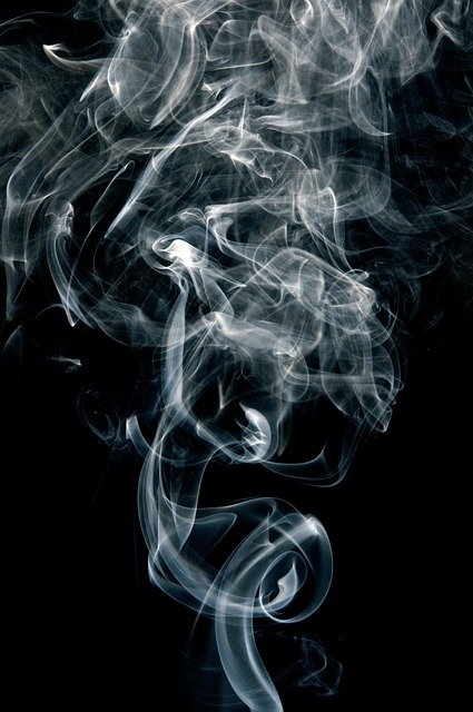 Smoke, Fumes, Black, White, Curve, Cigarette Smoke