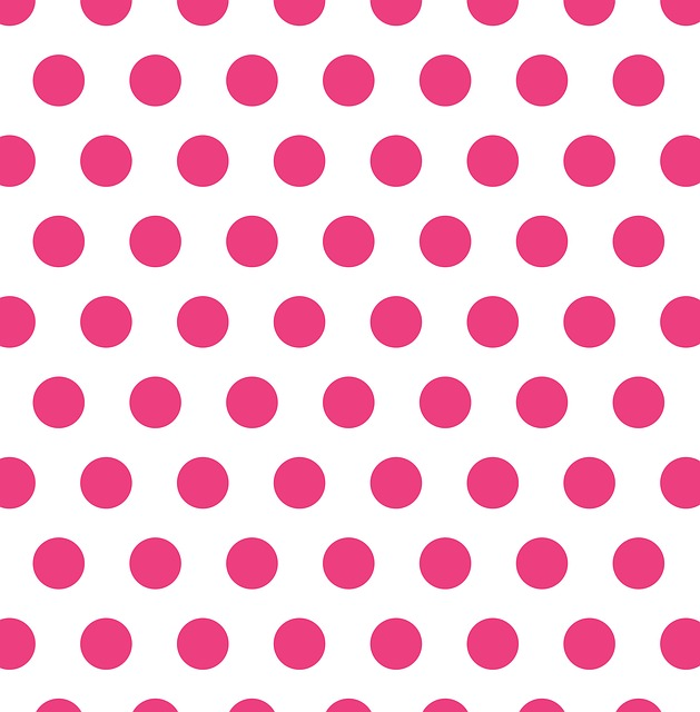 Polka Dots, Pink, White, Dots, Spots, Pattern, Design