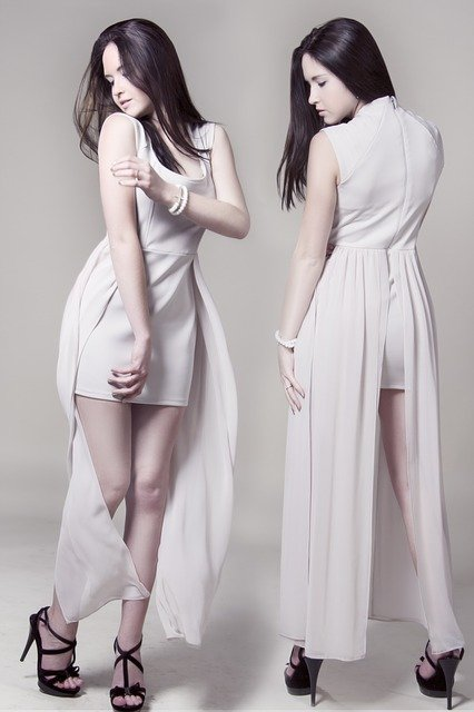 Girl, White Dress, Hairstyle, Hair, Beauty, Person