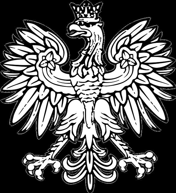 Poland, Coat Of Arms, White Eagle, Eagle, Crowned