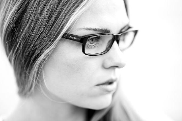 Black And White, Portrait, Eyewear, Face, Human, White