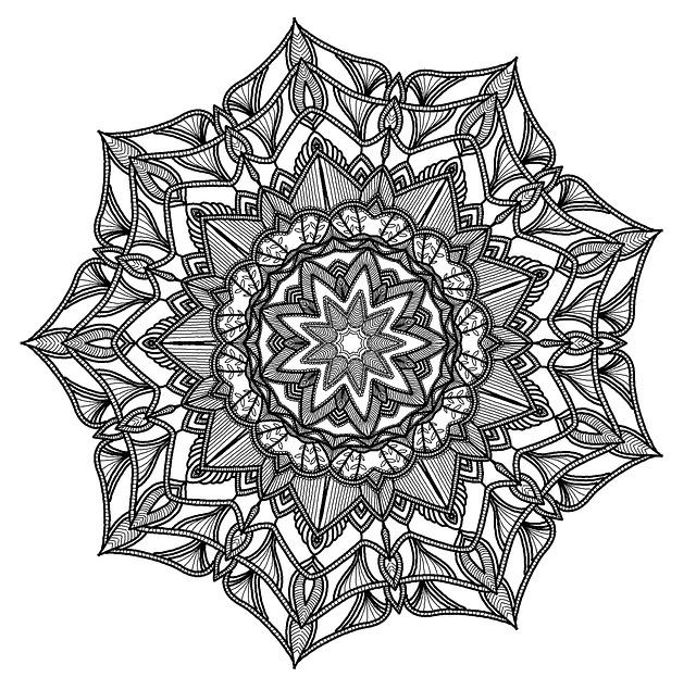 Mandala, Pattern, Geometry, Black, White