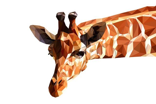 Giraffe, Stand-alone, Animal, Background, White, Wild