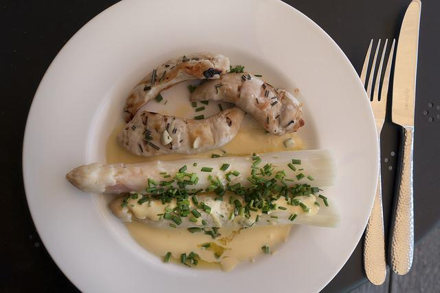 Eat, Court, Gourmet, Healthy, Asparagus, White