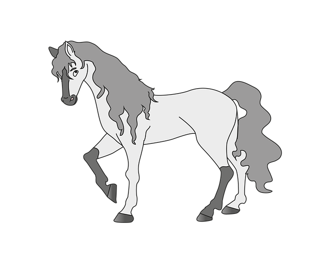 Horse, Animal, White Horse, Mold, Graphic, Transparent
