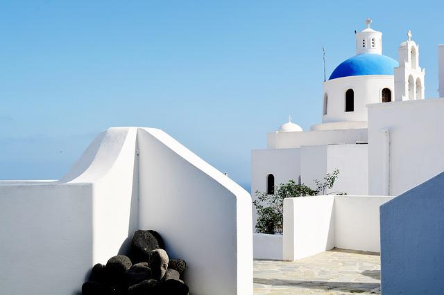 Santorini, Greece, White Houses, Oia